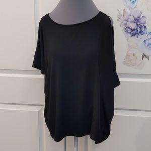 Final Price! Heather mixed material top - AB053